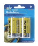 Battery D, HQ Alkaline 1.5V 2X